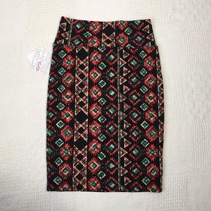 NWT Lularoe S Cassie Skirt Boho Tribal Pattern